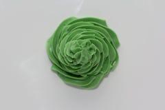 Helado verde del remolino Fotografía de archivo
