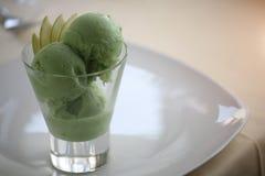 Helado verde del sorbete Imagen de archivo libre de regalías