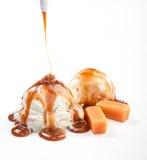 Helado y caramelo Imagenes de archivo