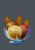 Helado y las galletas Imagen de archivo libre de regalías