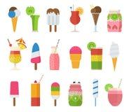 Helado y los cócteles del verano de la fruta libre illustration