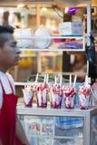 Helados de la fresa en la ciudad justa Foto de archivo libre de regalías