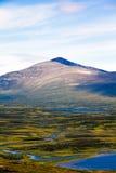 Helagsfjallet, Sweden. Panorama vertical. Sweden-Norway Border Mountain Stock Photography