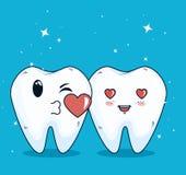 Helathcare de los dientes con el tratamiento de la medicina de la higiene libre illustration