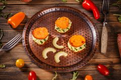 Helathy homemade appetizer Royalty Free Stock Images