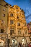 Helblinghaus在因斯布鲁克,奥地利。 免版税图库摄影