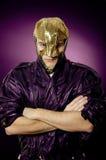Held in der Maske lizenzfreie stockfotos