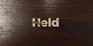 Held - grungy wooden headline on Maple  - 3D rendered royalty free stock image Stock Photos