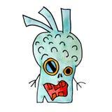 Held-Handzeichnung des Monster-Aquarells schlechte getrennt Lizenzfreie Stockfotos