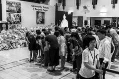 Held at one of the many community centres for public to pay last respect to late beloved Mr.Lee Kuan Yew Royalty Free Stock Images