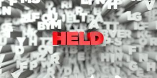 HELD -  Red text on typography background - 3D rendered royalty free stock image Royalty Free Stock Photos