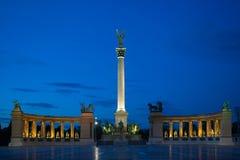 Helden vierkant Boedapest Royalty-vrije Stock Afbeelding