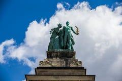 Helden Vierkant Boedapest Hongarije Stock Fotografie