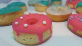 Heldendicht donuts Stock Foto
