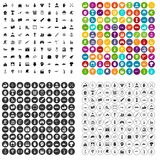 100 heldenpictogrammen geplaatst vectorvariant vector illustratie