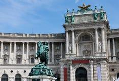 Heldenplatz beim Hofburg in Wien Lizenzfreie Stockfotografie