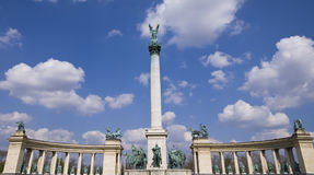 Heldenplatz  or Heroes square Budapest Stock Images