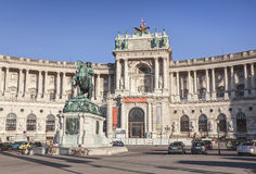 Heldenplatz and Imperial palace (Hofburg) in Vienna, Austria. Stock Photos
