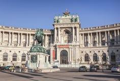Heldenplatz and Imperial palace (Hofburg) in Vienna, Austria. Stock Photos