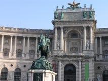 Heldenplatz y Hofburg Viena, Austria Fotos de archivo libres de regalías