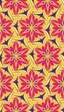 Helder abstract geel patroonroze Stock Foto's