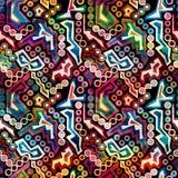 Helder abstract geometrisch naadloos patroon in graffitistijl kwaliteits vectorillustratie voor uw ontwerp Royalty-vrije Stock Afbeelding