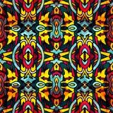 Helder abstract geometrisch naadloos patroon in graffitistijl kwaliteits vectorillustratie voor uw ontwerp Royalty-vrije Stock Afbeeldingen