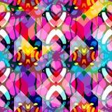 Helder abstract geometrisch naadloos patroon in graffitistijl kwaliteits vectorillustratie voor uw ontwerp Royalty-vrije Stock Foto's