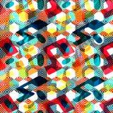 Helder abstract geometrisch naadloos patroon in graffitistijl kwaliteits vectorillustratie voor uw ontwerp Stock Foto