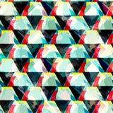 Helder abstract geometrisch naadloos patroon in graffitistijl kwaliteits vectorillustratie voor uw ontwerp Stock Afbeelding