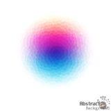 Helder abstract kleurrijk gestippeld kristal van Grafisch op Wit royalty-vrije illustratie