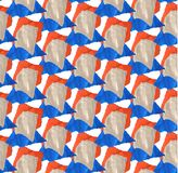 Helder, abstract naadloos die patroon met gescheurd gekleurd document wordt gemaakt stock illustratie