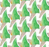 Helder, abstract naadloos die patroon met gescheurd gekleurd document wordt gemaakt vector illustratie