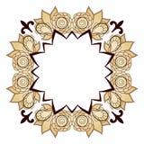 Helder abstract patroon met ruimte voor tekst, een kroon van rozen Stock Afbeelding