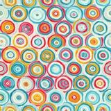 Helder abstract psychedelisch naadloos patroon stock illustratie