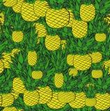 Helder ananaspatroon royalty-vrije illustratie