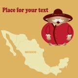 Helder beeld van een mens van de Vector van Mexico Uw tekst Royalty-vrije Stock Foto's