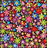 Helder behang met de zomerbloemen Stock Foto