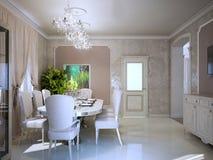 Helder binnenland van moderne woonkamer Royalty-vrije Stock Fotografie