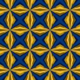 Helder blauw geel manier naadloos patroon Royalty-vrije Stock Fotografie