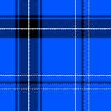 Helder blauw geruite Schotse wollen stof royalty-vrije stock afbeeldingen