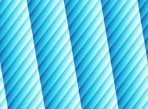 Helder blauw modern abstract fractal art. Trillende illustratie als achtergrond met gestreepte kolommen Computer geproduceerd bee Stock Fotografie