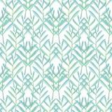 Helder bloemen naadloos ontwerp met blauwgroene installaties Royalty-vrije Stock Fotografie