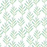 Helder bloemen naadloos ontwerp met groene installaties Royalty-vrije Stock Foto