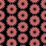 Helder bloemen naadloos patroon Moderne vectorachtergrond met rode bloemen Textiel of verpakkingsontwerp stock illustratie
