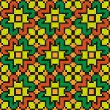 Helder bloemen naadloos stikkend patroon Stock Afbeeldingen