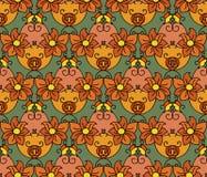 Helder bloemenpatroon Royalty-vrije Stock Foto's