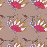 Helder BloemenPatroon Royalty-vrije Stock Afbeeldingen