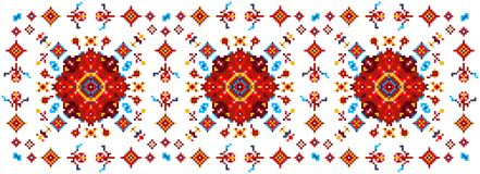 Helder bloemenpatroon voor dwars-stikt Stock Afbeelding