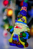 Helder cijfer van Santa Claus met een klok Royalty-vrije Stock Fotografie